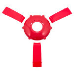 Solid Red Center Cap & Spoke Set For Gussi Italia® Giazza Steering Wheel