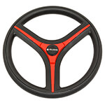 Gussi Italia® Brenta Black/ Red Steering Wheel for Club Car Precedent (Fits 2004-Up)