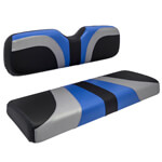 Red Dot® Blade Front Seat Covers for Club Car Precedent - Alpha Blue/ Silver/ Black Carbon Fiber