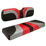 Red Dot® Blade Front Seat Covers for Club Car Precedent - Red /  Silver /  Black Carbon Fiber