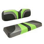 Red Dot® Blade Front Seat Covers for CC Precedent - Lime Green/ Charcoal Gear/ Black Carbon Fiber
