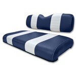Club Car DS Navy /  White Seat Cushion Set (Fits 2000.5-Up)