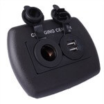 Black In-Dash 12-Volt /  USB Power Ports (Universal Fit)
