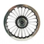 "8"" Black & Chrome Turbine Wheel Cover"