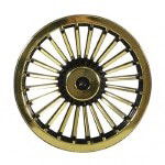 "8"" Black & Gold Turbine Wheel Cover"