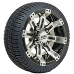Set of (4) 10 inch GTW Tempest Wheels Mounted on GTW Street Tires