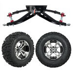 "GTW 6"" Lift w/ 12"" Storm Trooper Machined/ Black Wheel & Barrage Mud Tire For Club Car DS (1982-2003)"