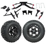 GTW 6″ Lift w/ 12 Specter Matte Black Wheel & Barrage Mud Tire For Club Car DS (2004.5-Up)