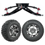 "GTW 6"" Lift w/ 12"" Specter Machined/ Black Wheel & Barrage Mud Tire For Club Car DS (1982-2003)"